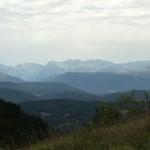 Vista dei Sibillini dalla montagna di Cammoro
